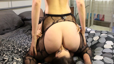 Anus worship and face smothering between lola foxx  kimberly.
